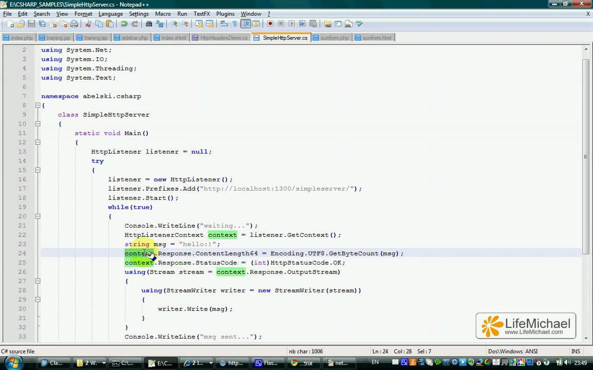 Developing a Simple HTTP Server in C#
