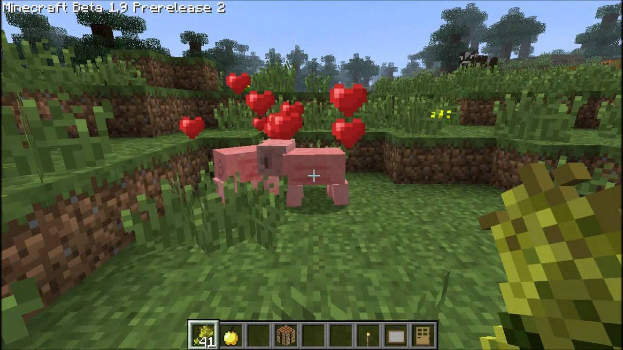 Minecraft 11.11 Pre-Release 11 How To Bread Cows,Sheep,Pigs,Chickens.