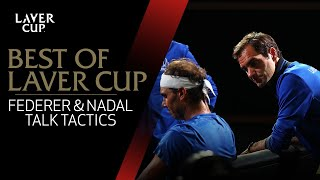 Federer and Nadal talk tactics with Fognini | Laver Cup 2019
