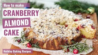 Today i want to show you how make cranberry almond cake. this moist and tender cake, with the sourness of cranberries crunch topping mak...