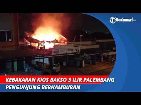 Kebakaran Kios Bakso 3 Ilir Palembang | Pengunjung Berhamburan