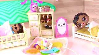 Куклы Лол Сюрприз! Сказка на ночь и Королевские машинки Шопкинс для Lol мультик! Видео для детей