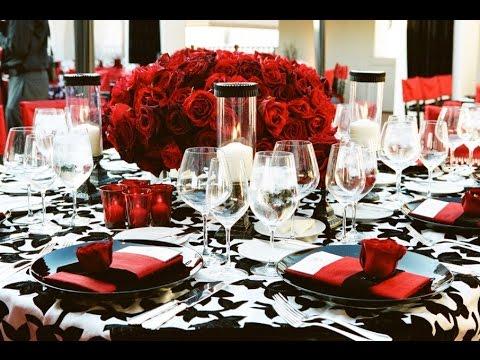 Dekoration Hochzeit Rote Rosen