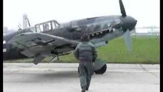 Messerschmitt Bf 109 G-6 engine start (no sound)