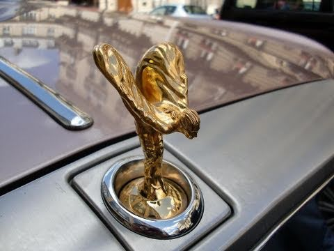 Rolls Royce Drophead With Gold Spirit Of Ecstasy Youtube