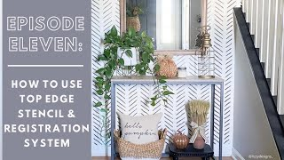 Wall Stencils: How To Use Built-in Registration Marks & Top Edge Stencil