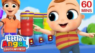 Jus Buah Warna-Warni Enak! 🍓🍌 Lagu Belajar Warna | Little Angel Bahasa Indonesia