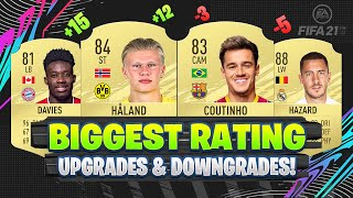 FIFA 21 | BIGGEST RATING UPGRADES AND DOWNGRADES! 😱🔥| FT. ALPHONSO DAVIES, COUTINHO, HAALAND... etc