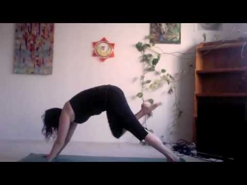 yoga tutorial  downward dog step thru  youtube