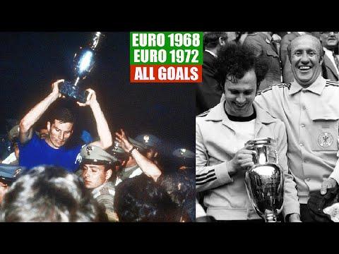 UEFA Euro 1968 in Italy and Euro 1972 in Belgium. All Goals.