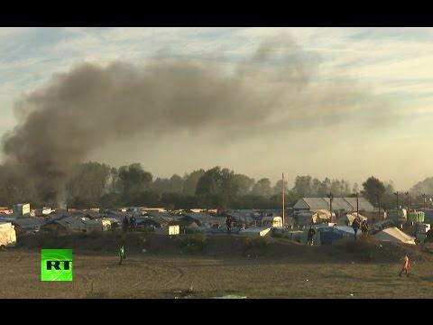 Demolition of Calais refugee camp (streamed live)