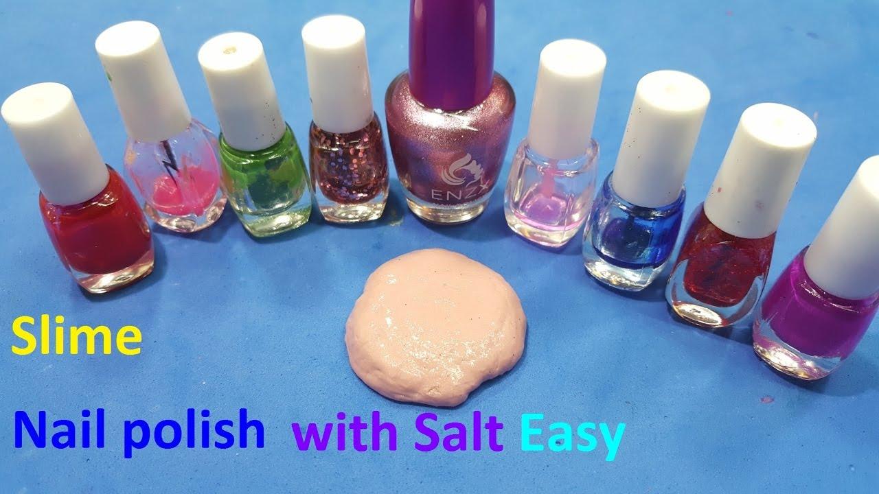 nail polish slime