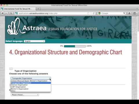 International Fund Application Instructional Video