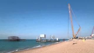 Brighton i360 beach landing, June 11 2015