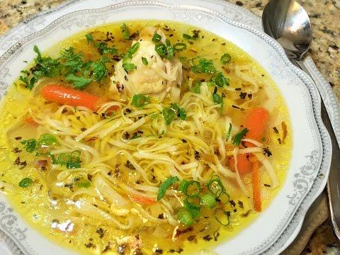 СУП. Куриный Суп с Домашней Лапшой. (Chicken Soup With Homemade Noodles.)