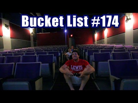 Video Games in a Movie Theater | Bucket List #174