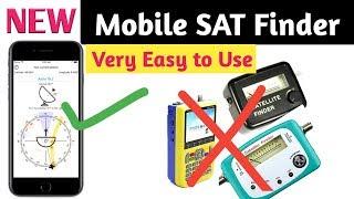 Dish antenna setting with Mobile App Mobile Sat finder satfinder