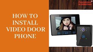How to install Video Door Phone