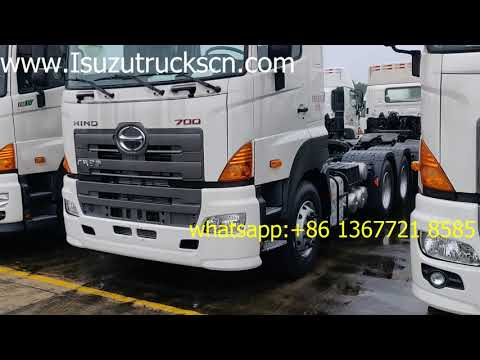 Myanmar HINO700 380HP 420HP diesel engine power 6x4 tractor truck