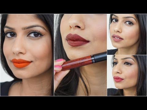 Ofra Long Lasting Liquid Lipstick Review and Swatches for Medium Skin!
