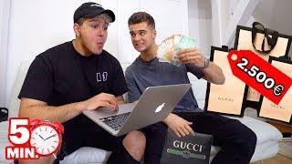 Er darf 5 min ALLES kaufen, was er bei GUCCI findet!