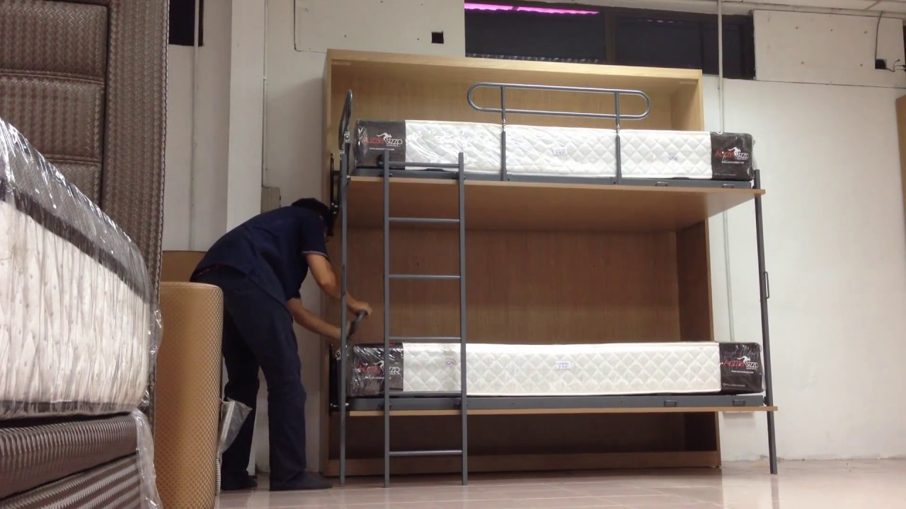 Folding Bunk Bed Youtube