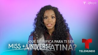 5 Preguntas Con Clauvid Dály, Miss República Dominicana 2019 | Miss Universo 2019 | Telemundo