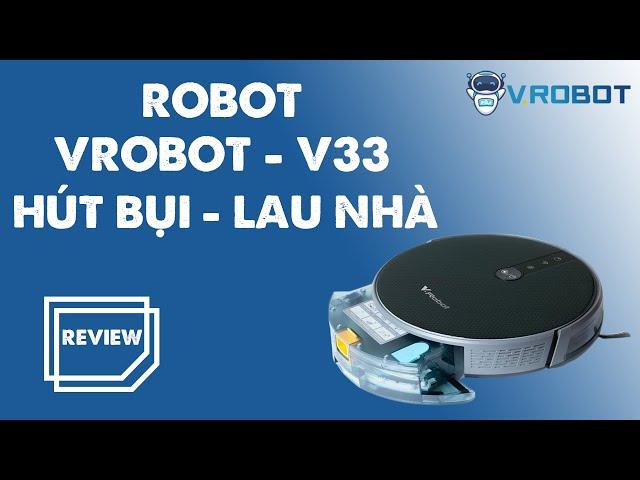 Robot hụi bụi lau nhà Vrobot V33 - Hàng chính hãng 💯 | Giải pháp Nhà Thông Minh SALA