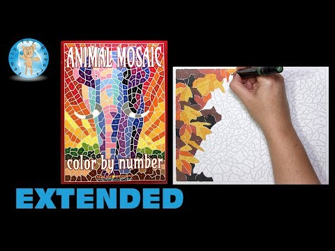 Animal Mosaic Color by Number Coloring Book Sunlife Drawing Owls Extended -- Family Toy Report