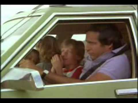 National Lampoons Vacation Clark Drives The Family Truckster Off The Closed Road Youtube