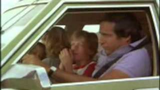 National Lampoons Vacation - Clark drives the Family Truckster off the closed road