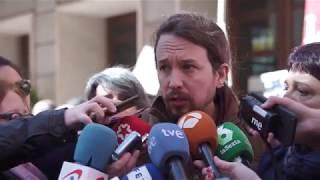 """Pablo Iglesias: """"No se puede consentir que trabajadores públicos sean entregados a manos privadas"""