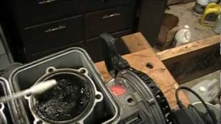 Rotax engine top end cleaning