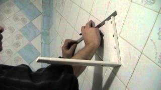 Как установить полку в кафель. Установка микроволновки в Киеве(, 2014-01-31T10:21:29.000Z)