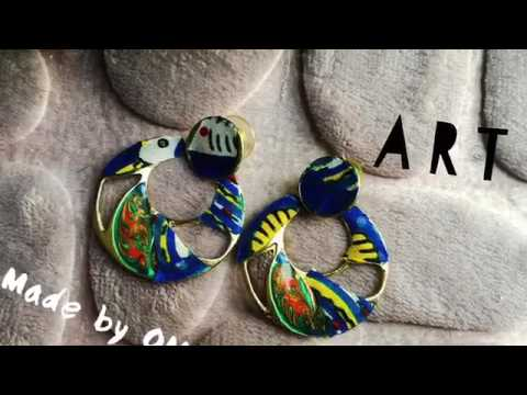 Customized earrings with African fabric