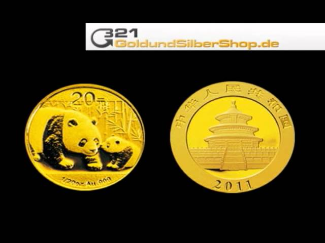 Panda 2011 Goldmünze, 1/20 oz (321goldundsilbershop.de)