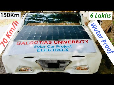 Indian Students Made Solar Electric Car Full Story | Electro-X