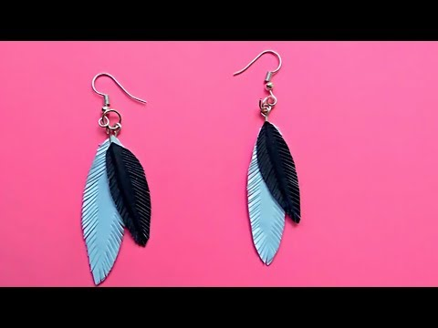 Handmade Paper Feather Earrings | How to make Paper Feather Earrings | CraftBlossom
