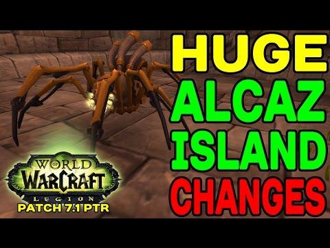 LEGION Patch 7.1 PTR: HUGE Alcaz Island Changes !!