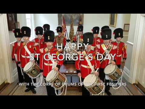 Celebrate St George's Day 2017 with music by the Corps of Drums Of The Fusiliers.
