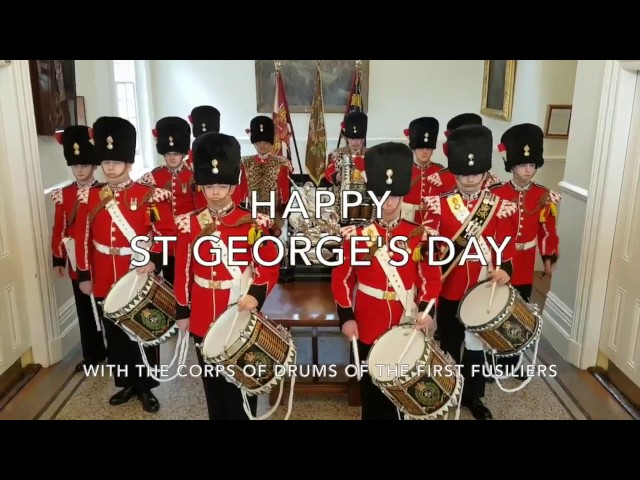 Celebrate St Georges Day 2017 with music by the Corps of Drums Of The Fusiliers.