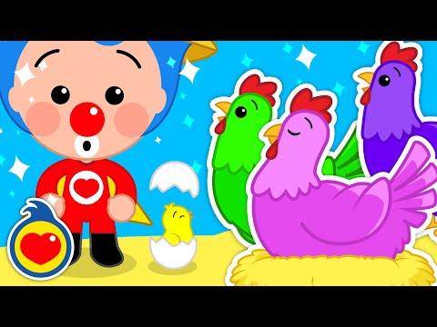 Gallinas y Pollitos de Colores   Aprender Colores con Canciones Infantiles #2   Plim Plim