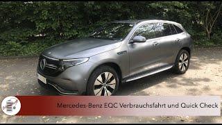 Mercedes-Benz EQC Verbrauchsfahrt und Quick Check - Ist der Stromer mit Stern besser als der eTron?