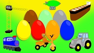 Изучение цвета, яйцо с сюрпризом 2! Развивающие мультики для детей
