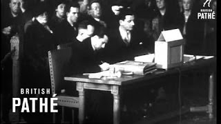 Britain Goes To International Court At The Hague Over The Albanian Question (1948)