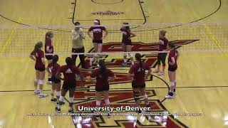 University of Denver Volleyball warm up drill
