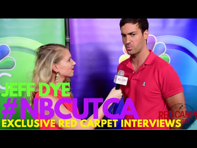 Interview with Jeff Dye #BetterLateThanNever at NBCUniversal's Summer Press Tour #NBCUTCA #TCA16