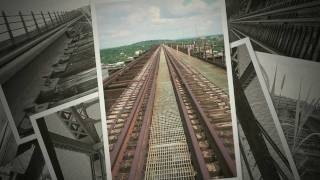Old Poughkeepsie railroad bridge over the Hudson river, upstate New York