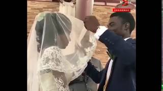Nollywood actor Seun Ajayi's reaction after he opened his brides veil is everything