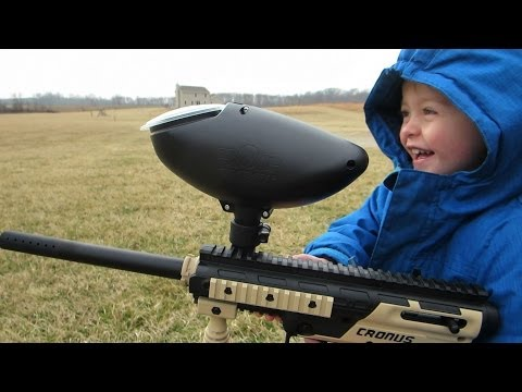 Thumbnail: Funny Paintball Kid!!